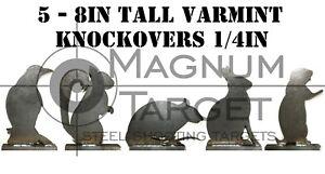 Steel Shooting Targets - Animal Silhouette Knockovers-Varmit - 1/4IN S.B. Plates