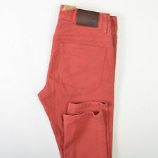 CCS Banks Super Skinny Jeans Mens Red Twill Cotton Stretch 32X33
