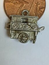 Vintage Sterling Silver MONKEY & ORGAN Opening CHARM