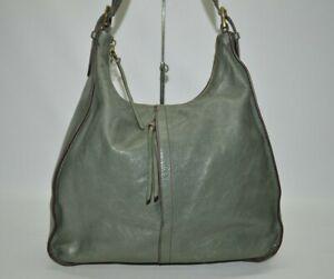 Hobo International Marley Bottle Green Large Zip Leather Hobo Shoulder Bag