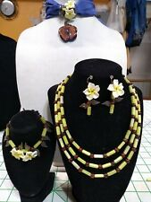 """Tremors Creations """"Daisy"""" 4 pc artist designed jewelry collection"""