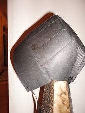 "Authentic Black Amish Woman's Bonnet, Hat, Cap,16-1/2"" string to string."