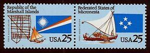 #2507a 25c Micronesia & Marshall Islands, Mint ANY 5=