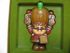 VINTAGE Hallmark Christmas Ornament - Toy Soldier with Drum - 1976 - with Box