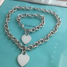 6b448d499 Tiffany & Co. Heart Set Necklace Bracelet Authentic.
