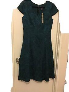 Long Tall Sally Size 12 Green Cap Sleeved Dress