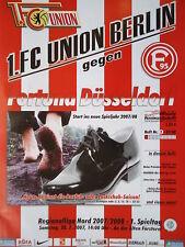 Programm 2007/08 Union Berlin - Fortuna Düsseldorf