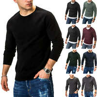 Jack & Jones Herren Strickpullover Basic Sweater Pullover Unifarben Herrenstrick