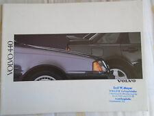 Volvo 440 range brochure 1989 German text