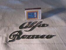 Alfa Romeo sign , chrome steel , #qar