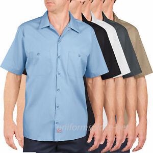 Men's work Shirts Dickies Premium Industrial Short Sleeve Shirt LS535 colors