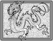 Coloring Page - Dragon # 6 - MUSTAFAIL (Hi-Res JPG file will be sent by email)