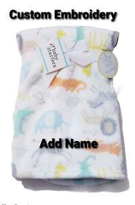 Personalized Monogrammed Forest Animals Minky Baby Blanket--Newborn Shower Gift