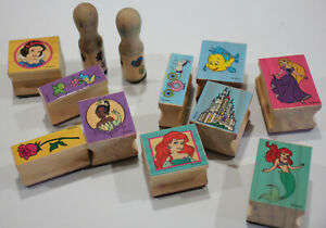 Disney Rubber Stamp Lot of 12 Melissa and Doug No Stamp Pad