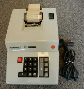 Olympia Rechenmaschine Typ AE D1 Funktion geprüft. Vintage Calculation machine
