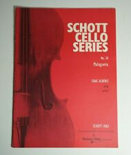 Malaguena No. 24 Isaac Albeniz Schott Cello Piano Sheet Music 11063 Malagueña