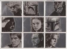 "Star Wars Galaxy 4 - ""Silver Foil Art Cards"" Set of 15 Chase Cards #1-15"