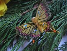 Swallowtail Feather Butterflies Yellow/Mustard  - 5.5cm - Set of 2 - Art/Crafts
