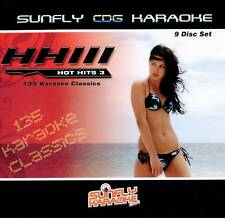 Sunfly Karaoke Hot Hits Vol.3 9 Disc Pack (CD+G) - Direct From Sunfly
