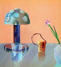 DAVID HOCKNEY BOOK PLATE PRINT STILL LIFE LAMP TABLE BINOCULARS FLOWER BEAKER