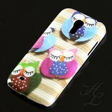 Samsung Galaxy S4 mini i9195 Hard Case Handy Hülle Schutz Schale Bunte Eule Owl