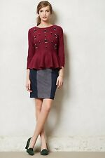 NIP $158 Anthropologie Ultrasuede Pencil Skirt by Shades of Grey Size 6