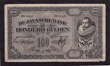 Netherlands Indies 100 Gulden 1927  P-73b  G