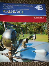 Brooks asta catalogo 2000 Londra Rolls Royce Bentley Cars s1 Wraith Fantasma