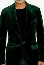 J Crew Ludlow Slim Fit Velvet Dinner Jacket Dark Green Mens Shawl Collar NWT 38R