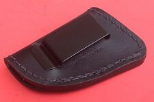 Homeland HLM037BB Boot 'N Belt Genuine Leather Holster Ambi Black for NAA Revolv