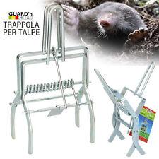 Trappola Per Talpe a Pinza In Metallo 21x11cm Cattura Talpa Marmotte da Giardino