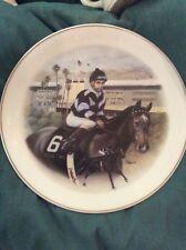"1996 Santa Anita "" Bill Shoemaker"" Collectors Plate"