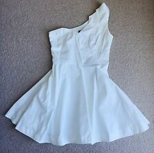 River Island One Shoulder Dress White Size 10