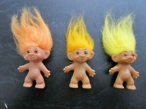 Troll Doll Lot of 3 Rare