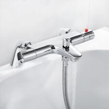 Mezclador de Ducha Baño Termostático Baño Moderno grifos Cubierta Montado Baño Relleno Grifo