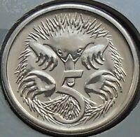 1987 Australia Five 5 Cent Coin - Elizabeth II - Uncirculated - Ex Mint Set UNC