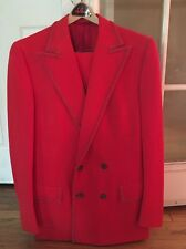 SY DEVORE HOLLYWOOD Collectible FRANK SINATRA JR Celebrity  RED COLOR SUIT SZ 38