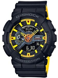 Casio G-Shock * GA110BY-1A Anadigi Layered Black & Yellow Watch COD PayPal