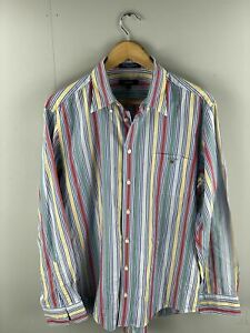 GANT Georgica Poplin Men's Long Sleeve Shirt - Size Large - Stripe