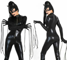 Sexy Halloween Costume Leather Jumpsuit Wild Cat Leopard Catsuit Cosplay 22