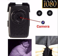 HD 1080P Mini SPY Hidden Buttons Camera IR Night Vision Motion Detection USB DVR
