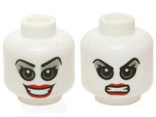 LEGO - Minifig, Head Female Gray Eyes & Eye Shadow w/ Red Lips (Harley Quinn)