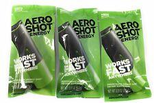 12 pack NEW AERO SHOT ENERGY PACK  100MG CAFFEINE WORKS ANYWHERE GREEN APPLE