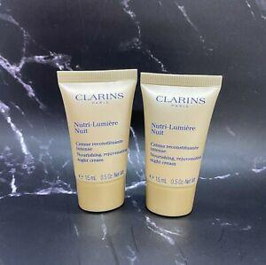 Lot/2 Clarins Nourishing Rejuvenating Night Cream - 0.5 oz x 2