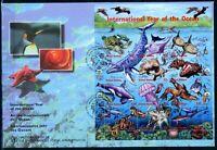UNO New York UNPA MiNr. 771-82 Ersttagsbriefe/ FDC Meerestiere (GF12137