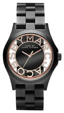 NEW MARC JACOBS WOMEN MBM3254 CLEAR LOGO DIAL STAINLESS GUNMETAL BAND WATCH