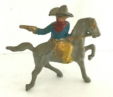"""Barclay Manoil Toy Soldier ARMED COWBOY ON HORSE 3"""" x 4"""" Western figurine Statue"""