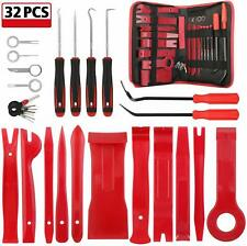 32PCS Car Door Auto Trim Removal Kit Pry Tool Set Plastic Upholstery Audio Panel