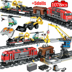 Technic Building Blocks Engineering City Train Model Station Toys RC Train New