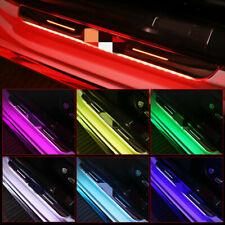 LED Welcome Pedal Light Car Threshold Strip Free Wiring Usb Magnetic Induction